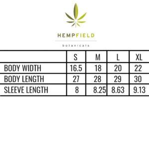 Hempfield Botanicals T-Shirt Specs