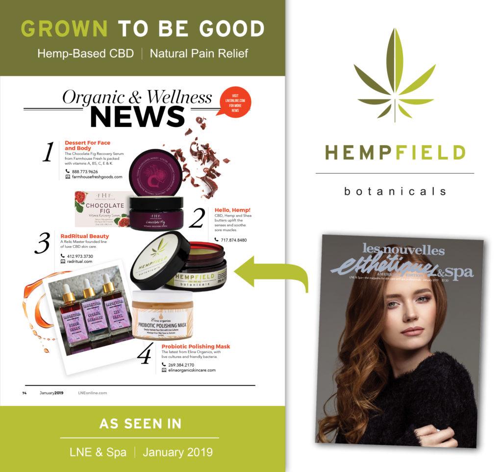 Hempfield Botanicals CBD | Les Nouvelles Esthétiques & Spa January 2019