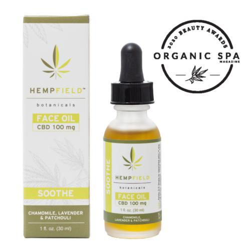 Soothe CBD Face Oil | Hempfield Botanicals | Organic Spa Magazine 2020 Beauty Awards