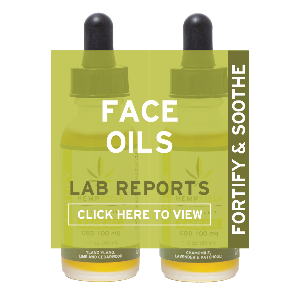 CBD Face Oil | Lab Reports | Hempfield Botanicals