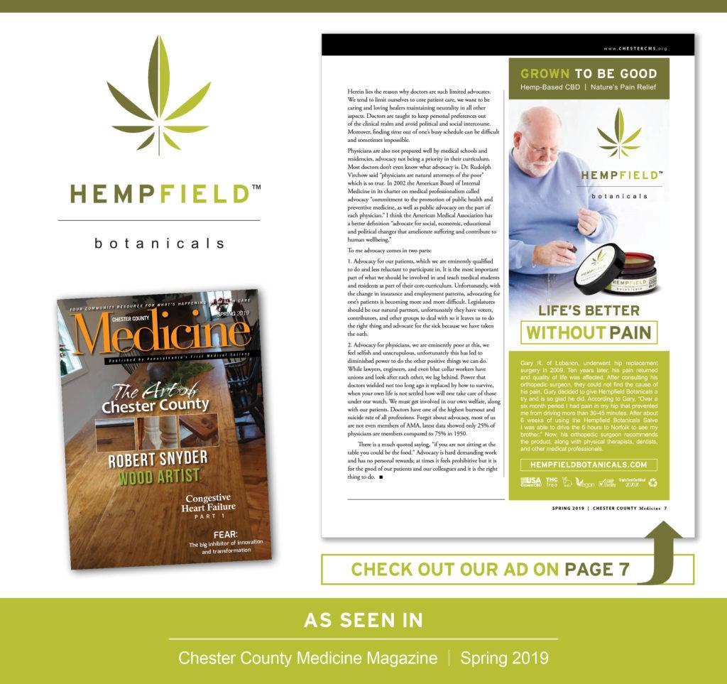 Lancaster County Medicine Magazine | Hempfield Botanicals CBD
