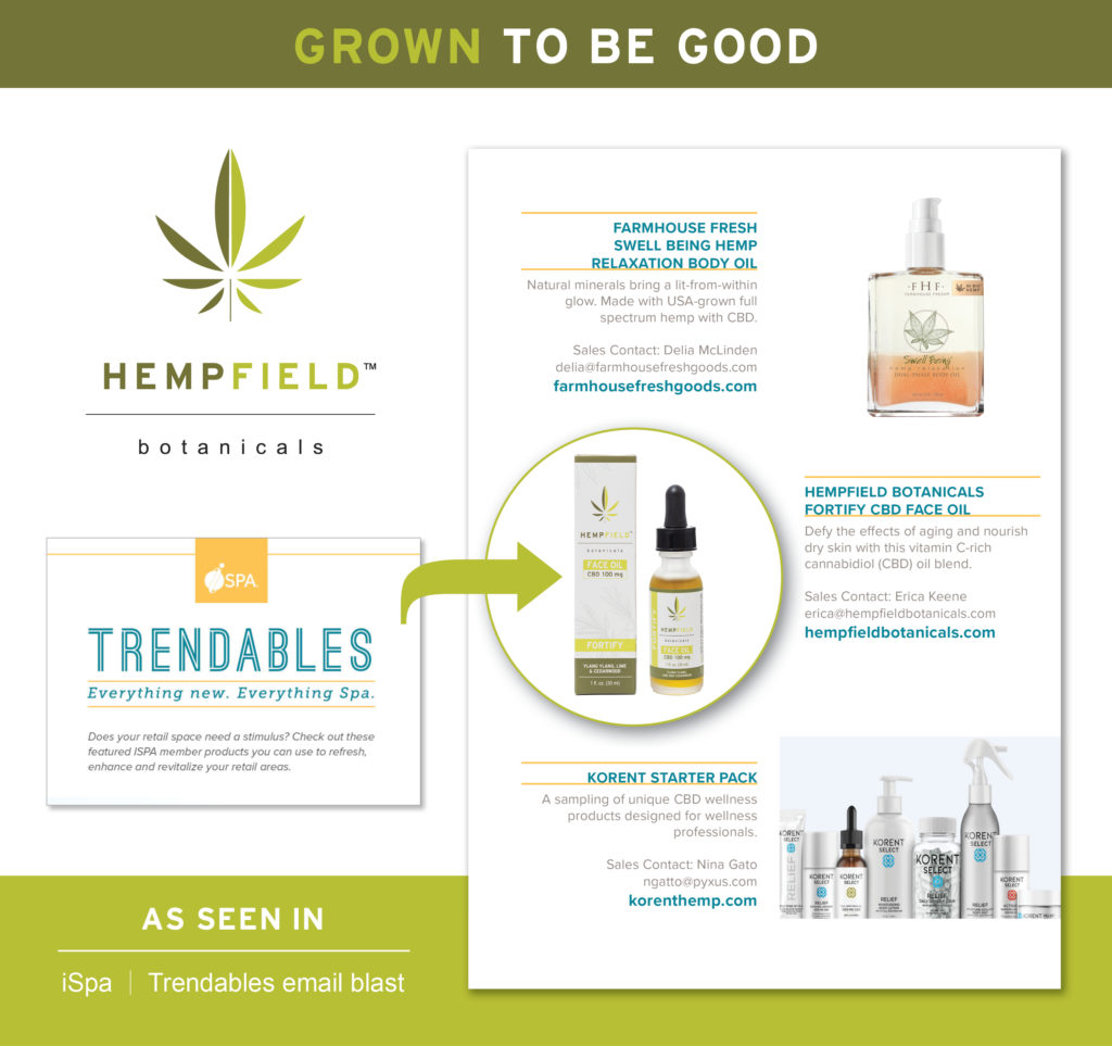 International Spa Association Trendables | Hempfield Botanicals