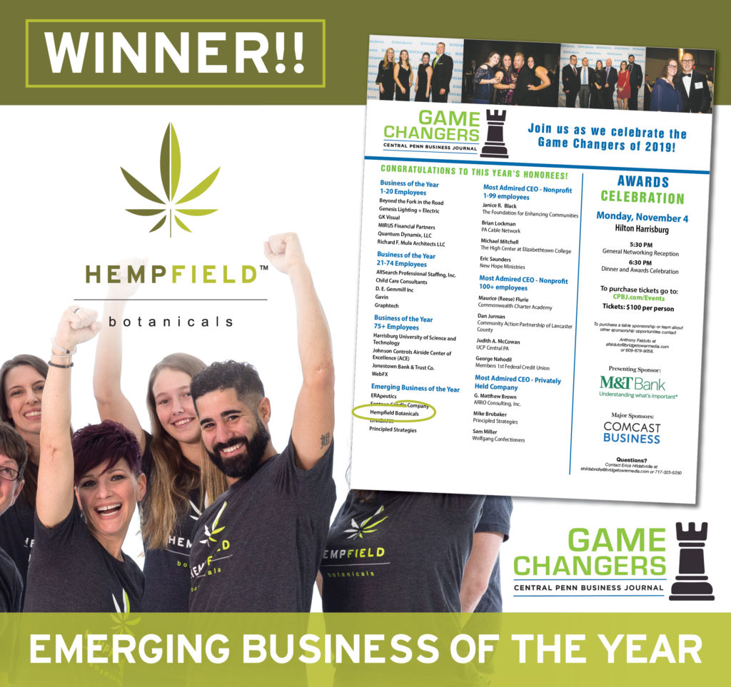 Central Pennsylvania Business Journal Game Changers | Hempfield Botanicals