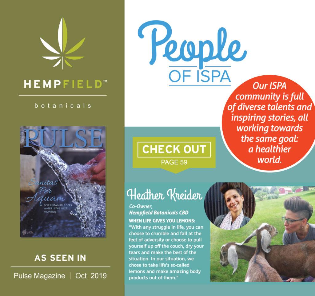 ISPA Pulse Magazine | Hempfield Botanicals