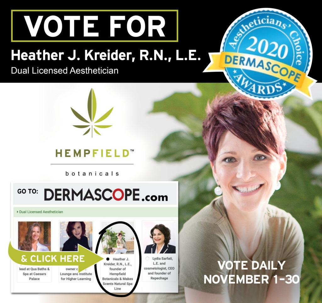2020 Aestheticians' Choice Awards \ DERMASCOPE Magazine | Hempfield Botanicals