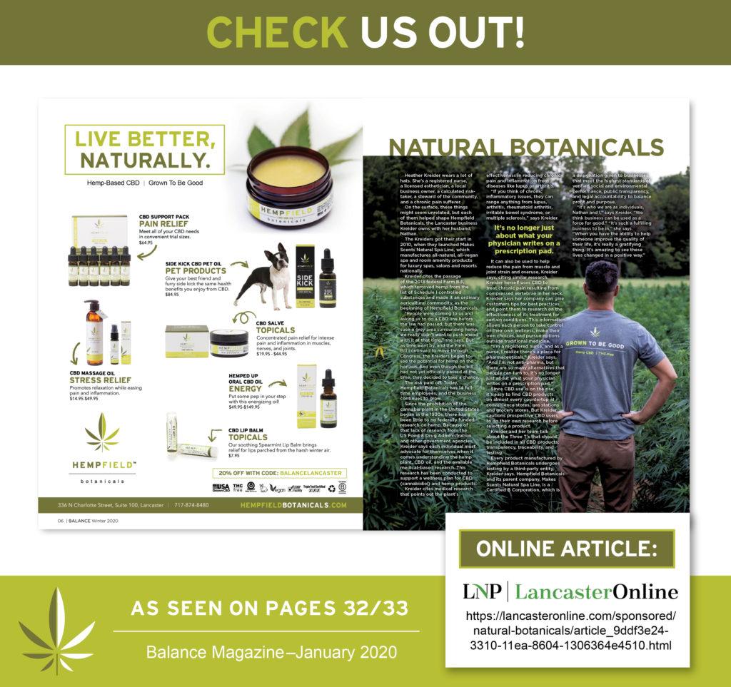 Balance Magazine | Hempfield Botanicals