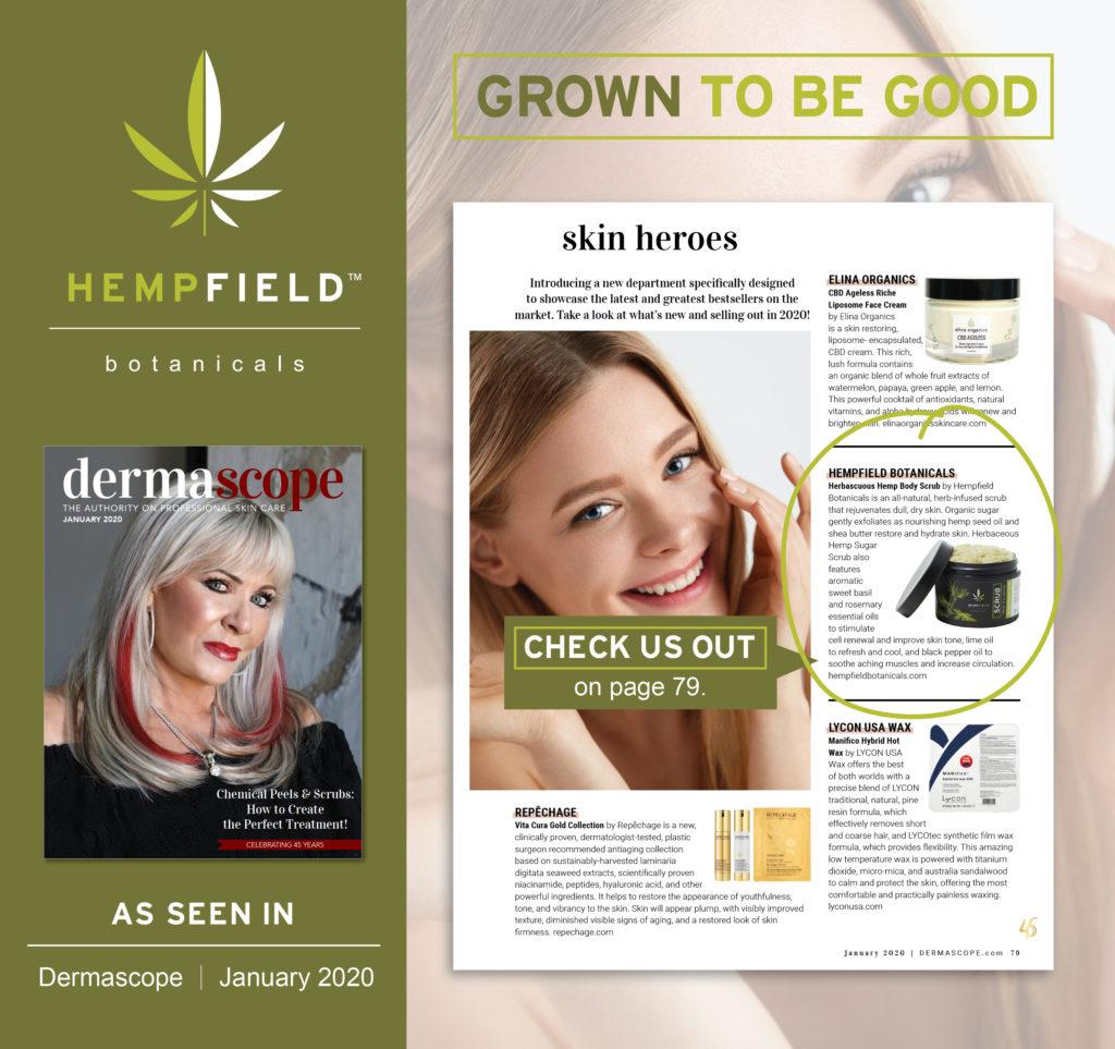 Herbaceous Hemp Scrub | Hempfield Botanicals | Les Nouvelles Esthétiques & Spa Magazine
