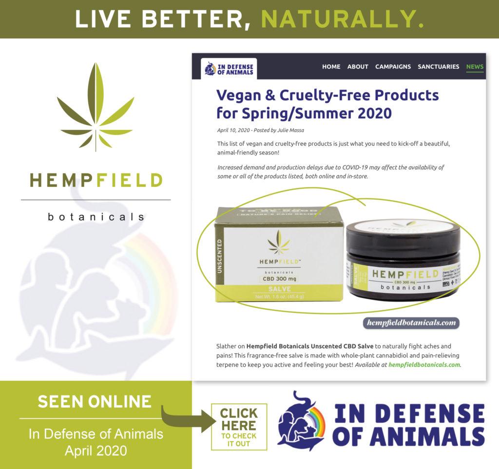 In Defense of Animals (IDA) | Vegan & Cruelty-Free Products for Spring/Summer 2020 | Hempfield Botanicals