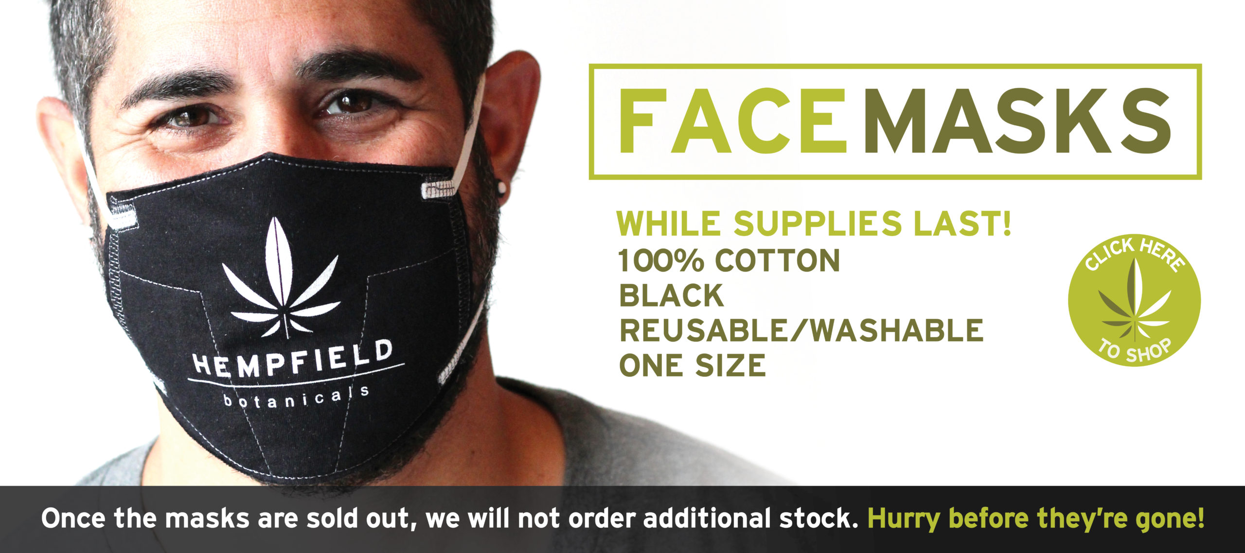 Hempfield Botanicals PPE Reusable Cotton Mask