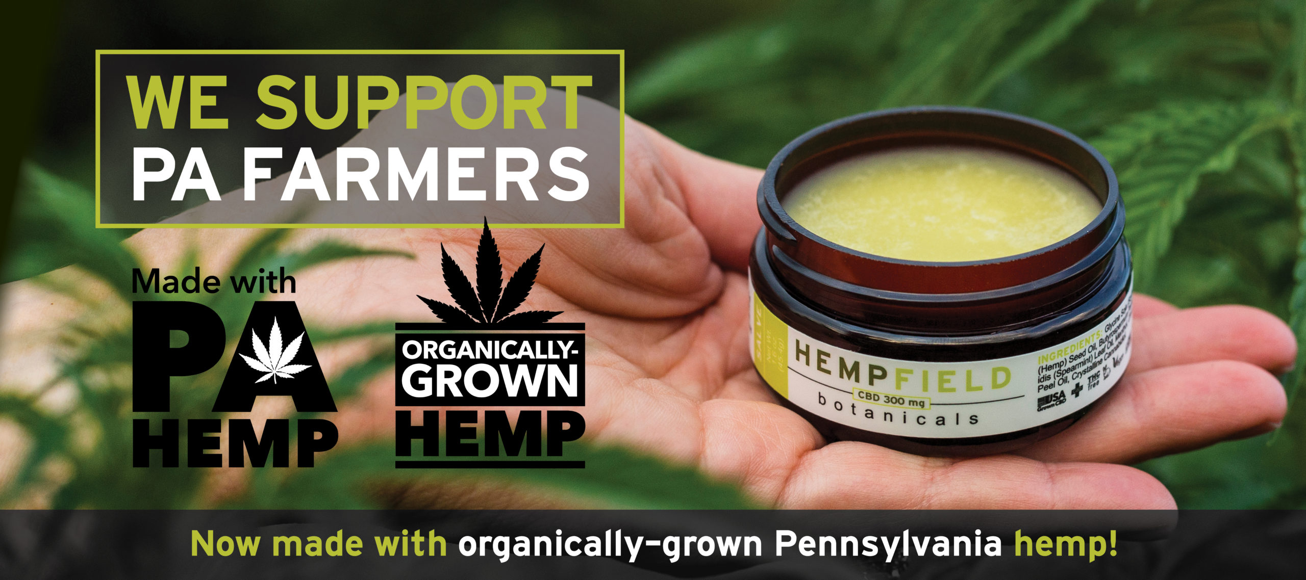 We Support PA Hemp Farmers | Hempfield Botanicals | Organic Hemp | Organic CBD