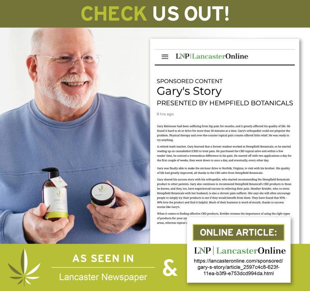 Gary's Story | Hempfield Botanicals | Balance Magazine | LNP
