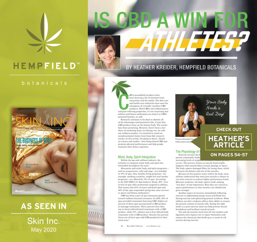 Is CBD a Win For Athletes? Hempfield Botanicals |Skin Inc. Magazine