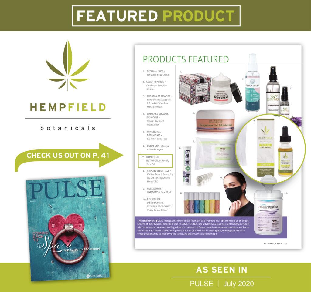 International Spa Association Pulse Magazine | Hempfield Botanicals