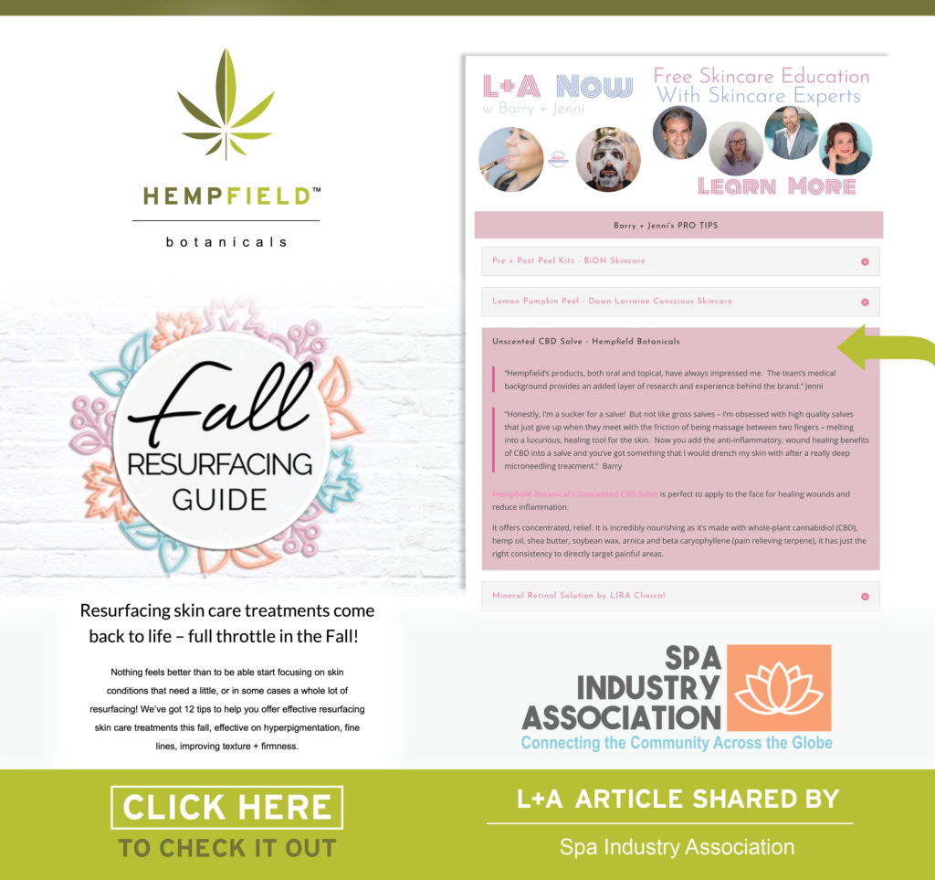 Fall Resurfacing Skin Care Guide | Unscented CBD Salve | Hempfield Botanicals | Lipgloss & Aftershave