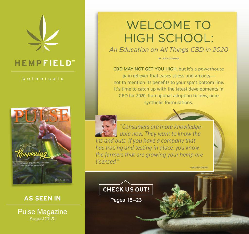An Education on All Things CBD | ISPA Pulse Magazine | Hempfield Botanicals