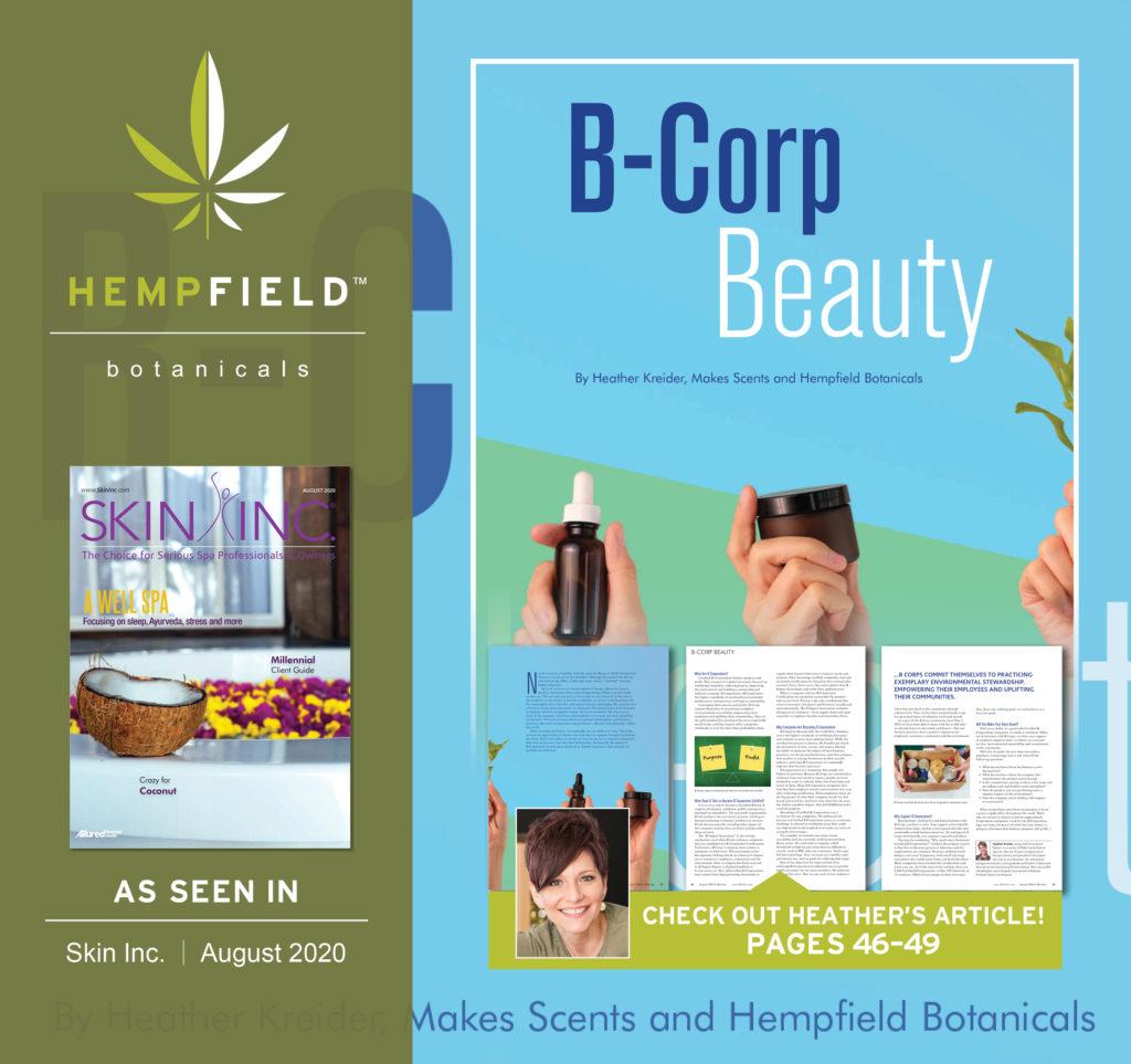 B-Corp Beauty | Hempfield Botanicals CBD | Skin Inc Magazine