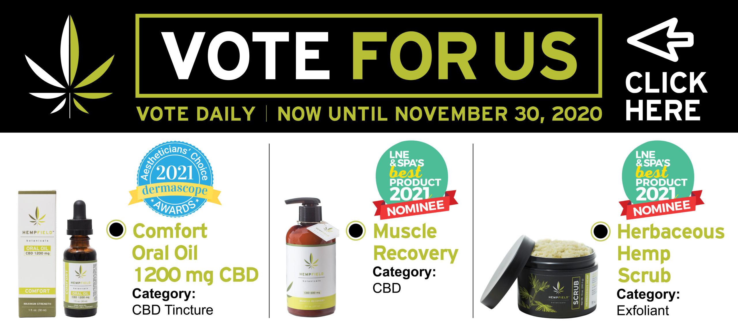 We Need your Votes | Hempfield Botanicals